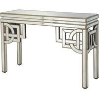 Claridge Deco Mirrored Console Table Antique Bronze