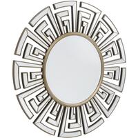 Claridge Deco Round Mirror Bronze Edging