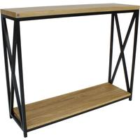 Chic Wood Console - Oak Top/and Black frame