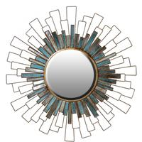 Panelled Sunburst Wall Mirror by Out There Interiors