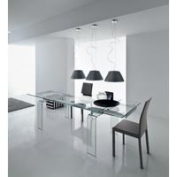 Light extending dining table