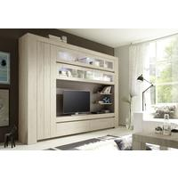 Monza Wall Unit in Rose Beige Finish - Including 4 LED Spotlights by Andrew Piggott Contemporary Furniture