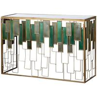Glass Panel Console Table by Out There Interiors