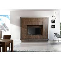 Luna Storage and TV  Wall Unit - Cognac Finish by Andrew Piggott Contemporary Furniture