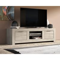 Forli Large TV Cabinet - Caracalla Oak Finish by Andrew Piggott Contemporary Furniture