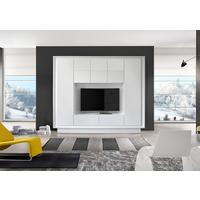 Luna Storage and TV Wall Unit - Matt White Finish by Andrew Piggott Contemporary Furniture