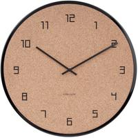 Karlsson Modest Cork Wall Clock - Black