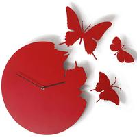 Butterfly Clock Red by Red Candy