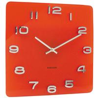 Karlsson Red Vintage Glass Clock by Red Candy