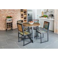 Urban Chic Round Dining Table 100cm Reclaimed Wood