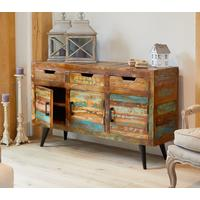 Coastal Chic Large Sideboard 3 Drawer 3 Door Reclaimed Wood