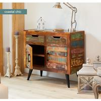 Coastal Chic Small Sideboard 3 Drawer 3 Door Reclaimed Timber