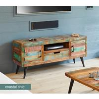 Coastal Chic Widescreen TV Cabinet by Baumhaus Furniture
