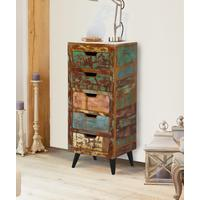 Coastal Chic 5 Drawer Tallboy by Baumhaus Furniture