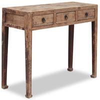 Three Drawer Chinese Elm Console by Shimu