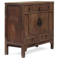 Elm Shanxi Chinese End Cabinet