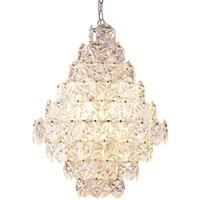 Crystal Glass/Nickel Chandelier