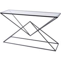 Black Pyramid and Glass Rectangular Console Table