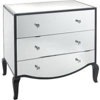 Carn Black Gloss & Mirror Chest by RV Astley