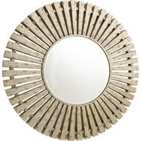 Harbin Distressed Mirror - Antique Brass Finish