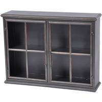 Moresby 2 Door Black Wall Cabinet Glass Doors