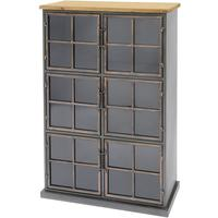 Moresby 6 Door Wood And Iron Cabinet by The Libra Company
