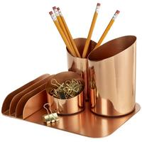 Bainbridge Copper Desktop Organiser by Red Candy