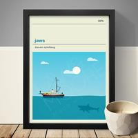 Jaws Art Print by Red Candy