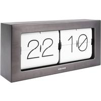 Karlsson Boxed Flip Clock Large - Gun Metal by Red Candy