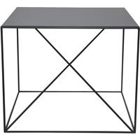 Small X Steel Side Table - Black  finish