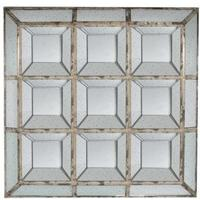 Distressed Antique 9 Section Mirror