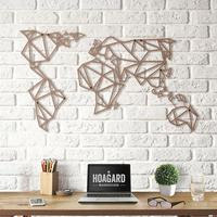 Geometric World Map - Bronze
