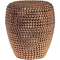 Metal Bead Stool in Copper