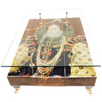Queen Elizabeth Coffee Table with Glass Top