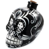 Day of the Dead Skull Decanter - Black