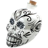 Day of the Dead Skull Decanter - White by Red Candy