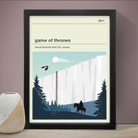 Game of Thrones - The Wall Art Print by Red Candy