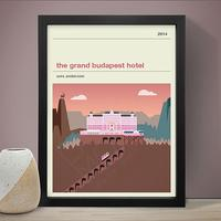 The Grand Budapest Hotel Art Print by Red Candy