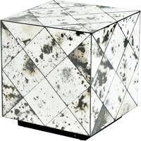 Santiago Antique Patchwork Cube Side Table by The Libra Company