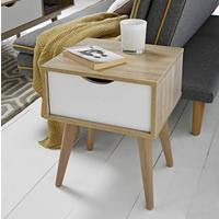 Scuna lamp table with drawer by Icona Furniture