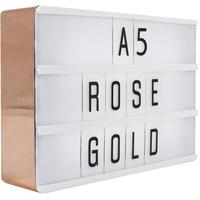 Rose Gold Lightbox Sign - A5 by Red Candy