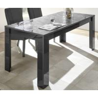 Brescia Dining Table 180cm - Gloss Anthracite with Grey Stencil by Andrew Piggott Contemporary Furniture