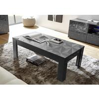 Brescia Coffee Table - Gloss Anthracite Finish with Grey Stencil Print by Andrew Piggott Contemporary Furniture