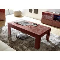 Brescia Coffee Table - Gloss Red Finish with Grey Stencil Print by Andrew Piggott Contemporary Furniture