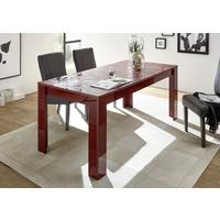 Brescia Dining Table 180cm - Gloss Red Finish with Grey Stencil Print by Andrew Piggott Contemporary Furniture