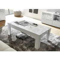 Brescia Coffee Table - Gloss White Finish with Grey Stencil Print by Andrew Piggott Contemporary Furniture