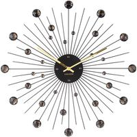 Karlsson Sunburst Large Wall Clock - Black by Red Candy