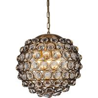 Colbert Crystal Glass and Brass Pendant Lamp