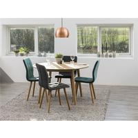 Nagane round table and 4 Fridi chairs by Icona Furniture