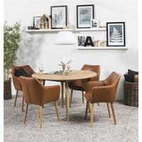 Nagane round table and 4 Nori chairs by Icona Furniture